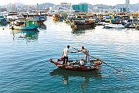 香港・コーズウェイベイの漁民